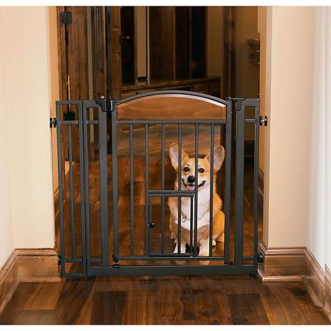& Carlson Pet Products Design Studio Metal Walk-Thru Pet Gate | Petco
