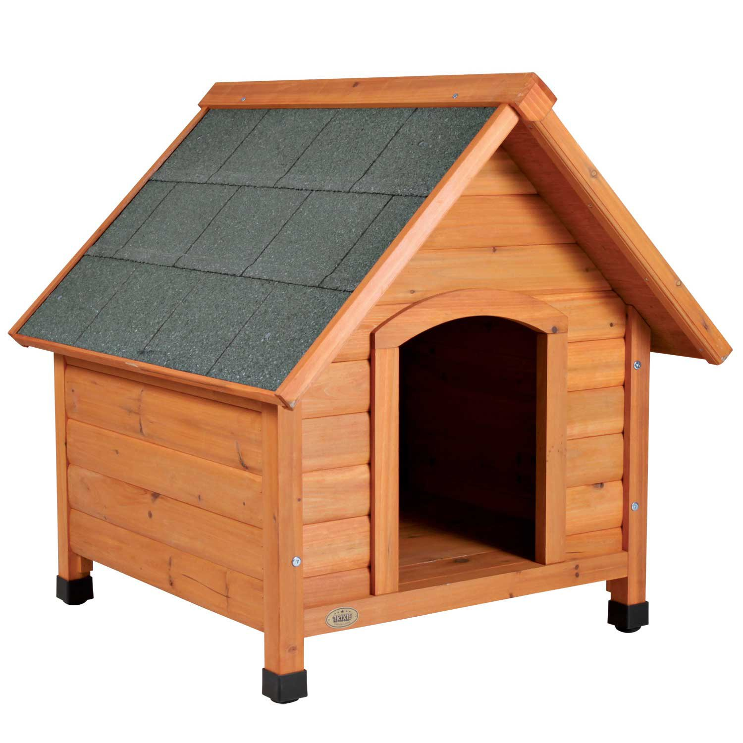 WARE Premium Plus Dog Houses are made with a design and materials intended to provide you and your pet with a long lasting premium dog house. The solid wooden dog house frame is made ith fir and sealed with a water-based non-toxic stain.
