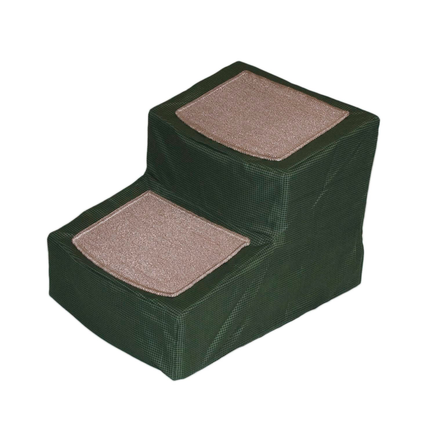 Pet Gear Sage Designer 2 Step Stair With Removable Cover Green