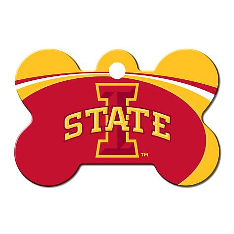 Quick-Tag Iowa State NCAA Bone Personalized Engraved Pet ID Tag, Large