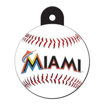 Quick-Tag Miami Marlins MLB Personalized Engraved Pet ID Tag, Large