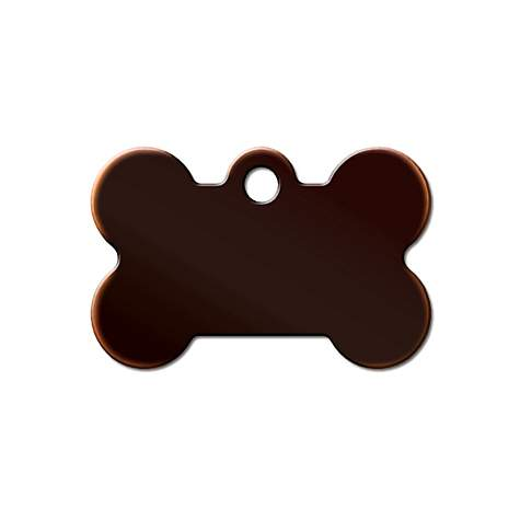 Quick-Tag Oil Rubbed Bronze Bone Personalized Engraved Pet ID Tag, Small