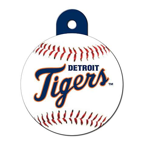cheap for discount 2821c e46f1 Quick-Tag Detroit Tigers MLB Personalized Engraved Pet ID Tag, 1 1/4