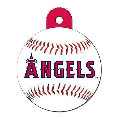 Quick-Tag Los Angeles Angels MLB Personalized Engraved Pet ID Tag, Large