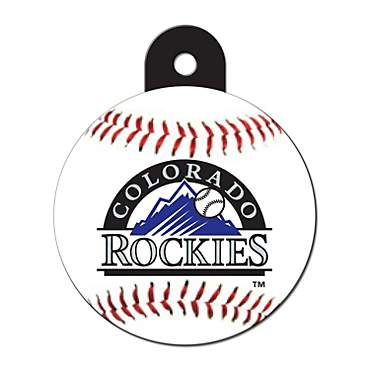 Quick-Tag Colorado Rockies MLB Personalized Engraved Pet ID Tag, Large