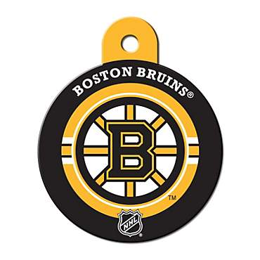 Quick-Tag Boston Bruins NHL Personalized Engraved Pet ID Tag, Large