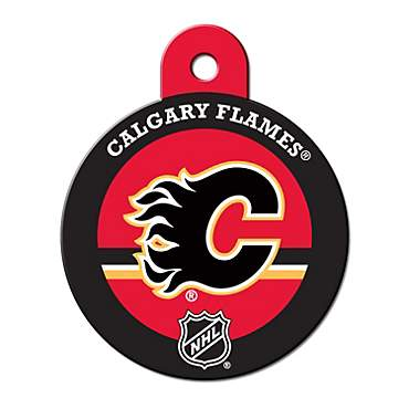 Quick-Tag Calgary Flames NHL Personalized Engraved Pet ID Tag, Large