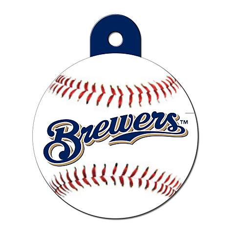 9ea77abe4 Quick-Tag Milwaukee Brewers MLB Personalized Engraved Pet ID Tag ...