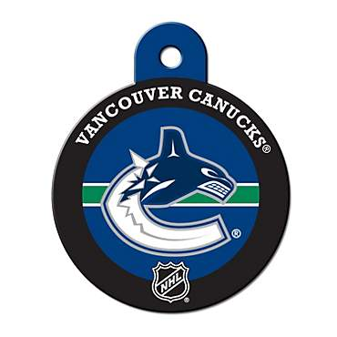 Quick-Tag Vancouver Canucks NHL Personalized Engraved Pet ID Tag, Large