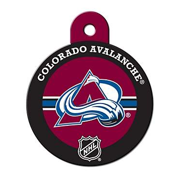 Quick-Tag Colorado Avalanche NHL Personalized Engraved Pet ID Tag, Large