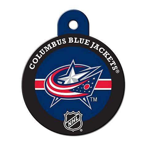 Quick-Tag Columbus Blue Jackets NHL Personalized Engraved Pet ID Tag, Large