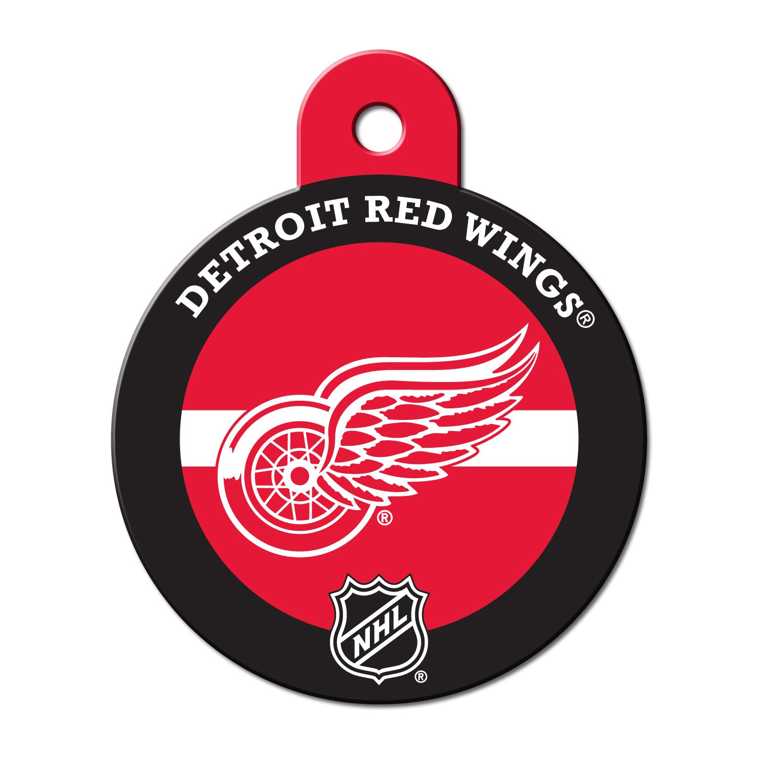 premium selection 95054 cff0f Quick-Tag Detroit Red Wings NHL Personalized Engraved Pet ID Tag, 1 1/4