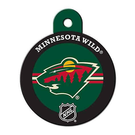 Quick-Tag Minnesota Wild NHL Personalized Engraved Pet ID Tag, Large