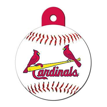 Quick-Tag St. Louis Cardinals MLB Personalized Engraved Pet ID Tag, Large