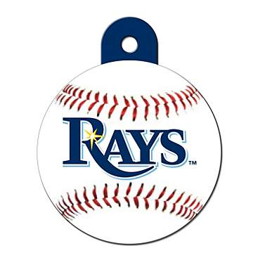 Quick-Tag Tampa Bay Rays MLB Personalized Engraved Pet ID Tag, Large