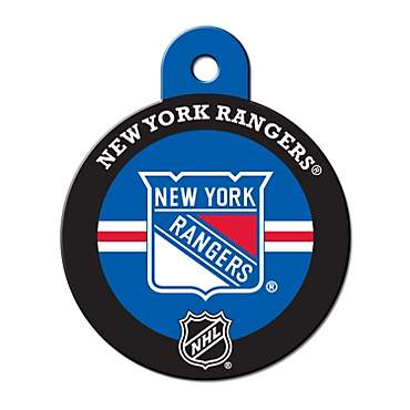 Quick-Tag New York Rangers NHL Personalized Engraved Pet ID Tag, Large