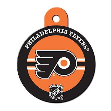 Quick-Tag Philadelphia Flyers NHL Personalized Engraved Pet ID Tag, Large