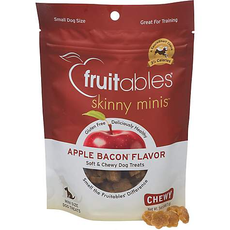 Fruitables Skinny Minis Apple Bacon Soft Chewy Dog Treats Petco