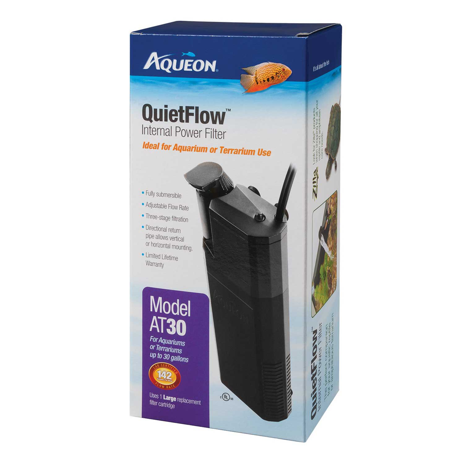 Aqueon quietflow 30 internal power filter petco for Quiet fish tank filter