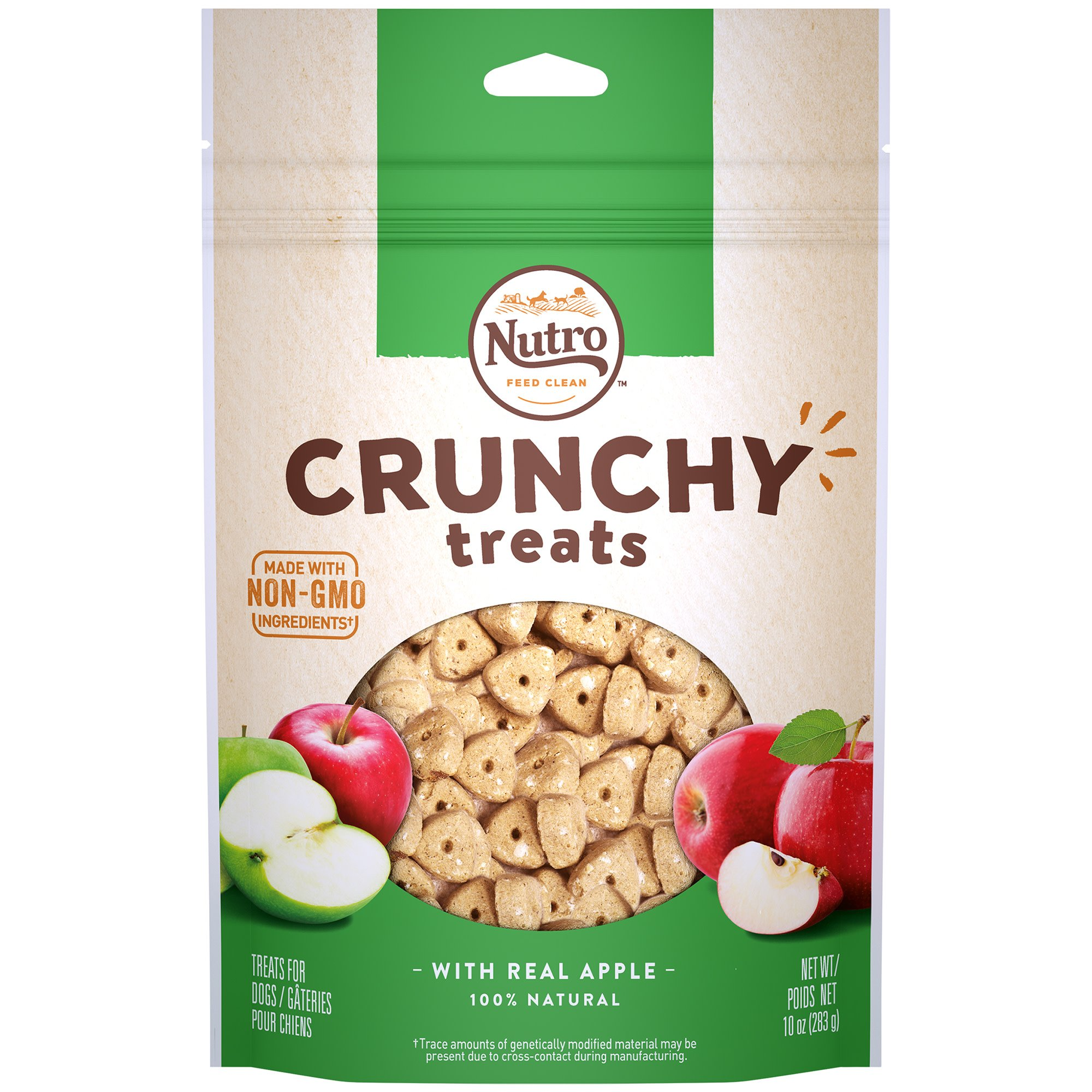 NUTRO Crunchy Treats With Real Apple Treats for Dogs