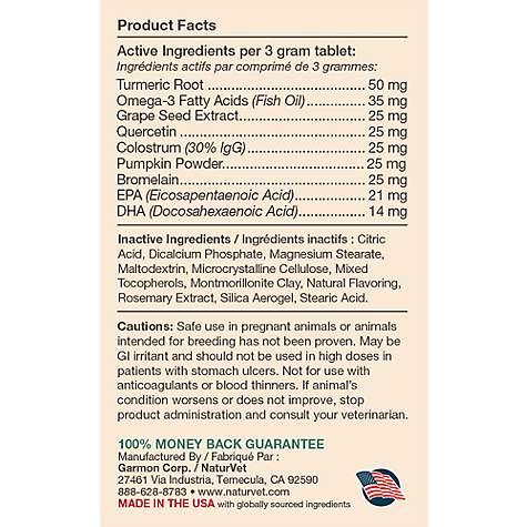NaturVet Aller-911 Skin & Coat Tabs