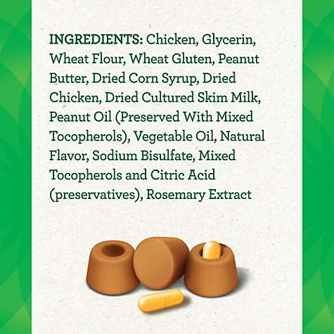 Greenies Pill Pockets Real Peanut Butter Flavor Treats For Dogs, Capsule Size