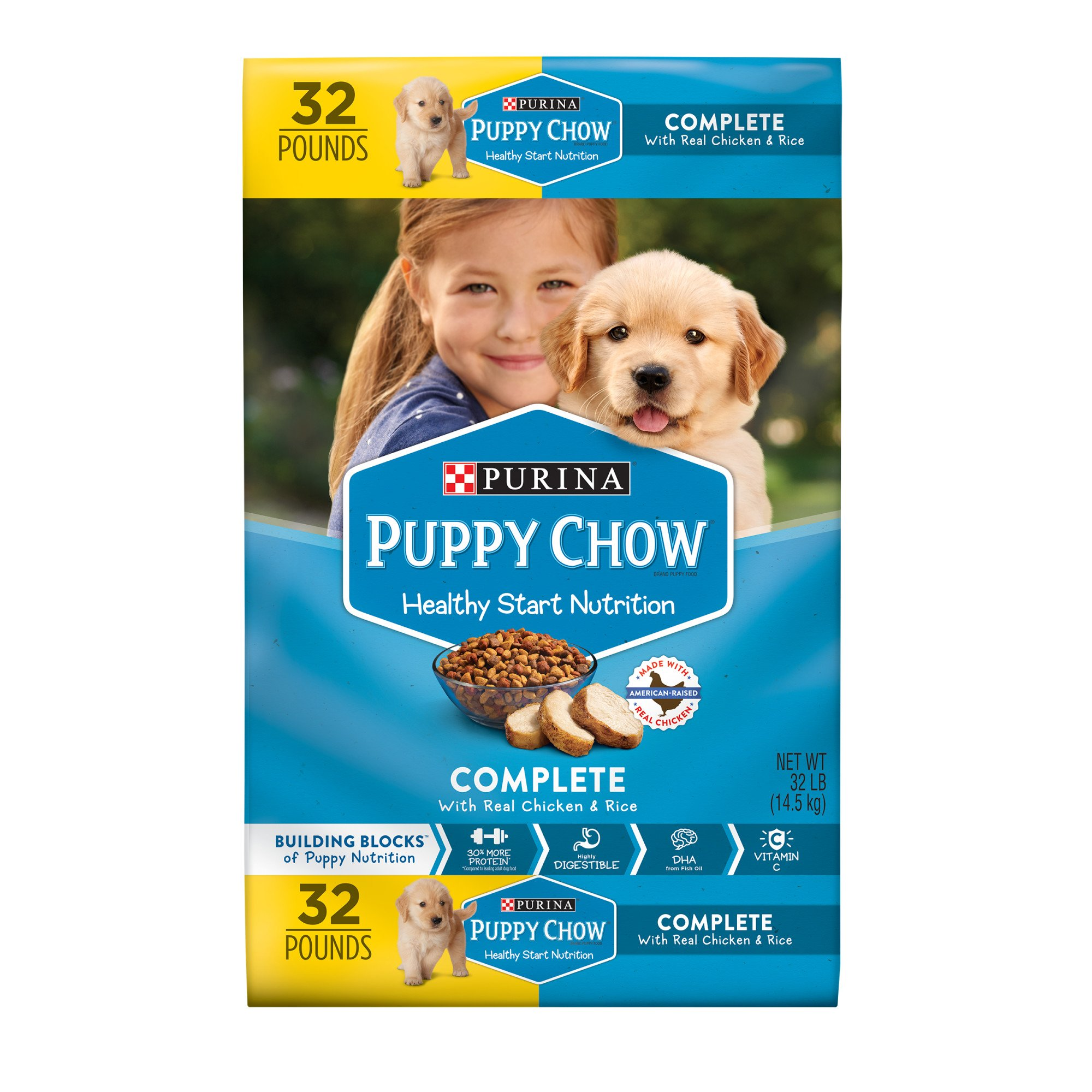 Provide the nutrition your puppy needs to get a great start in life with Purina Puppy Chow Complete With Real Chicken dry puppy food. Every serving of this puppy food contains % of the essential nutrients puppies require to grow big and strong, and the delicious taste gives him a reason to clean his bowl at every feeding/5().