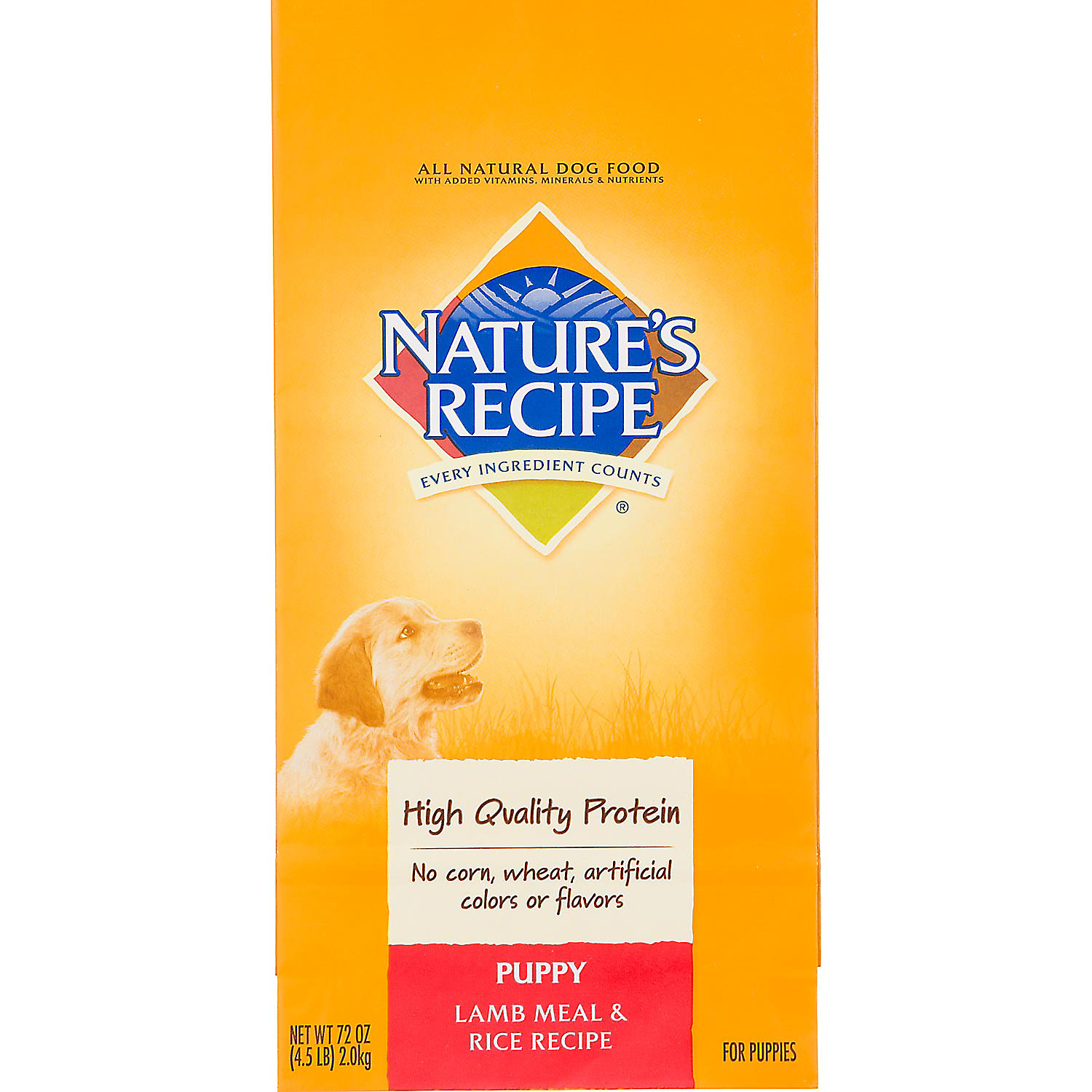 Natures Recipe Puppy Lamb Meal Rice Formula 4.5 Lbs.