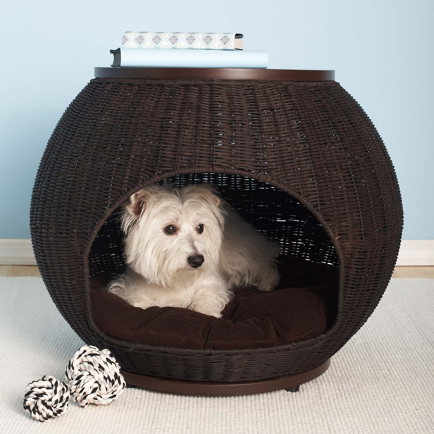 Refined Canine Igloo Deluxe End Table Dog Bed, 25
