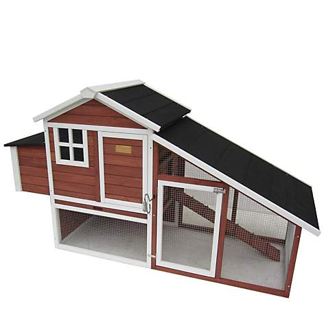 Advantek The Farm House Poultry Hutch in Auburn & White