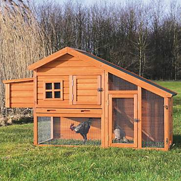 Trixie Natura Peak Roof Chicken Coop with Outdoor Run