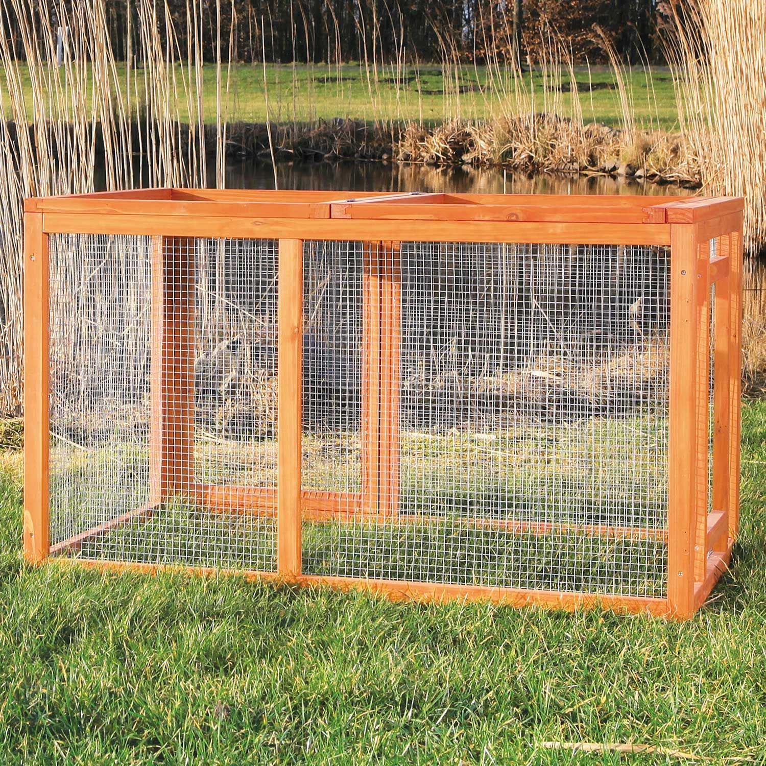 trixie natura outdoor run for chicken coops petco