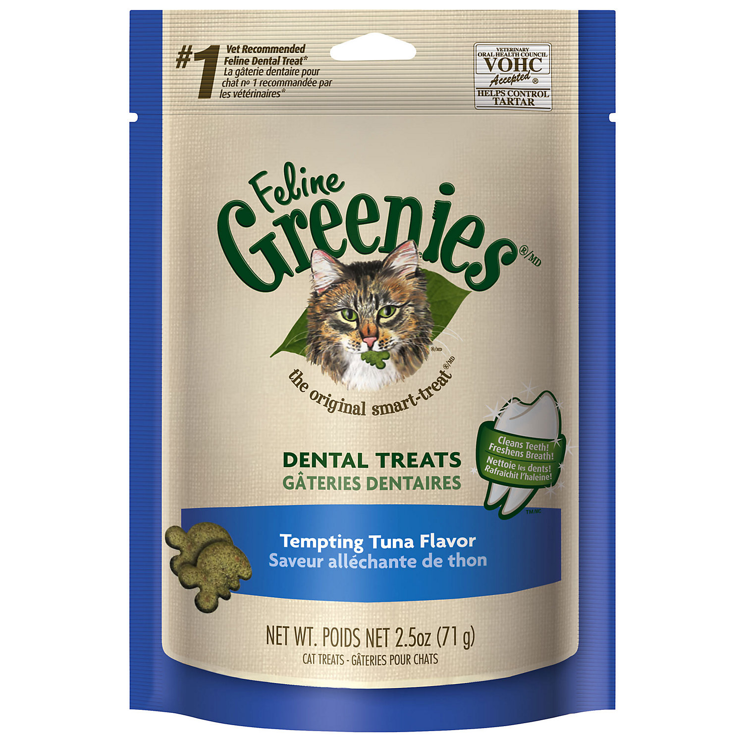 Feline Greenies Tempting Tuna Flavor 2.5 Oz.