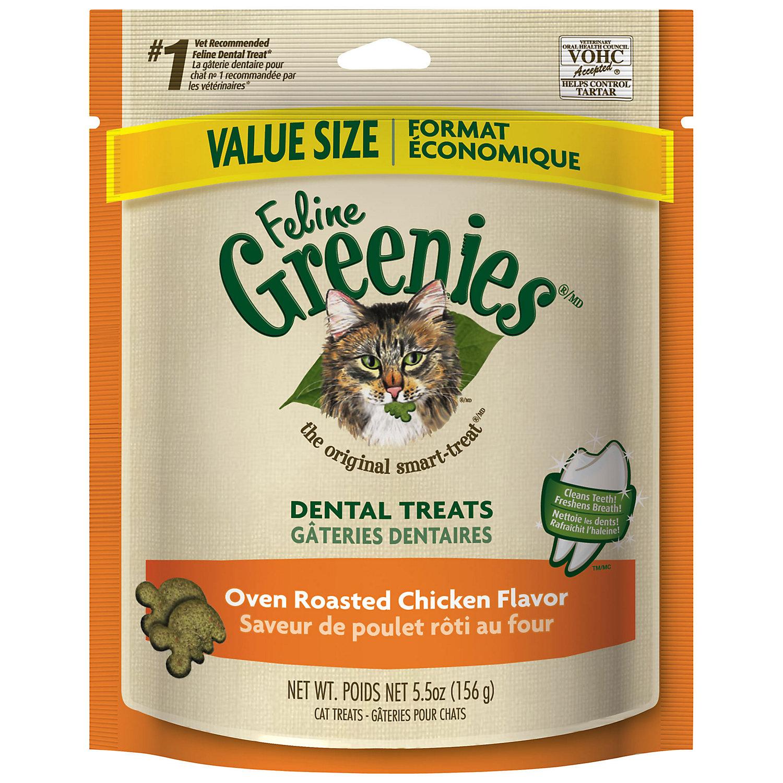 Feline Greenies Oven Roasted Chicken Cat Treats 5.5 Oz.