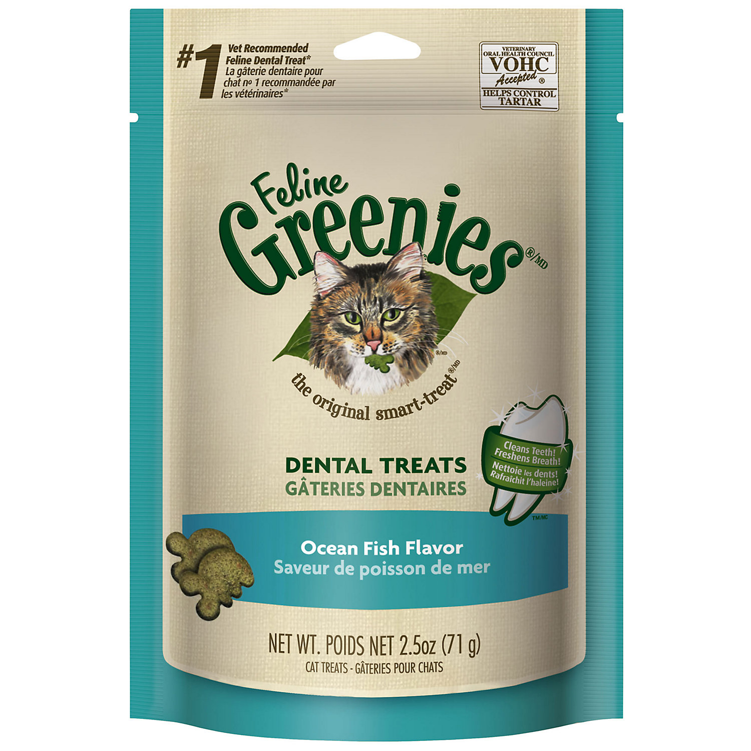 Feline Greenies Ocean Fish Flavor 2.5 Oz.