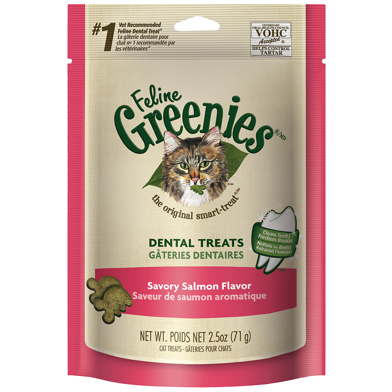Feline Greenies Savory Salmon Flavor 2.5 Oz.