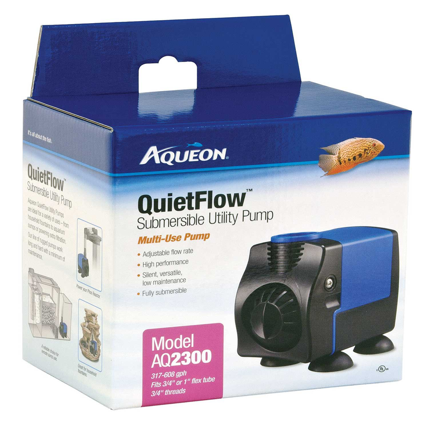 Fish tank electricity cost - Aqueon Quietflow 1700 Submersible Utility Pump