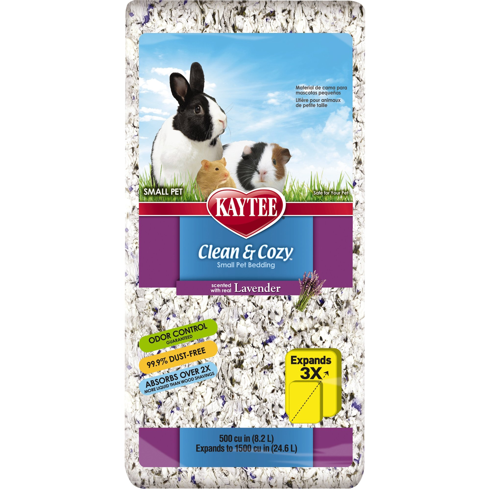 kaytee clean & cozy lavender scented small animal bedding | petco