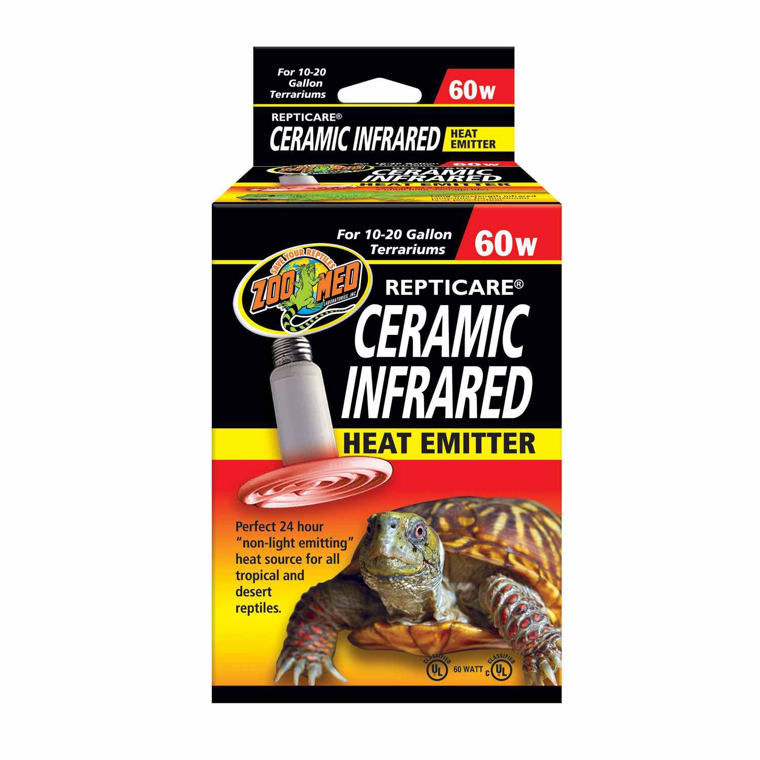 Zoo med repticare ceramic infrared heat emitters 60 watts for Fish tank heater petco