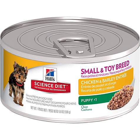 Hill's Science Diet Puppy Small & Toy Breed Chicken & Barley Entree Canned Dog Food