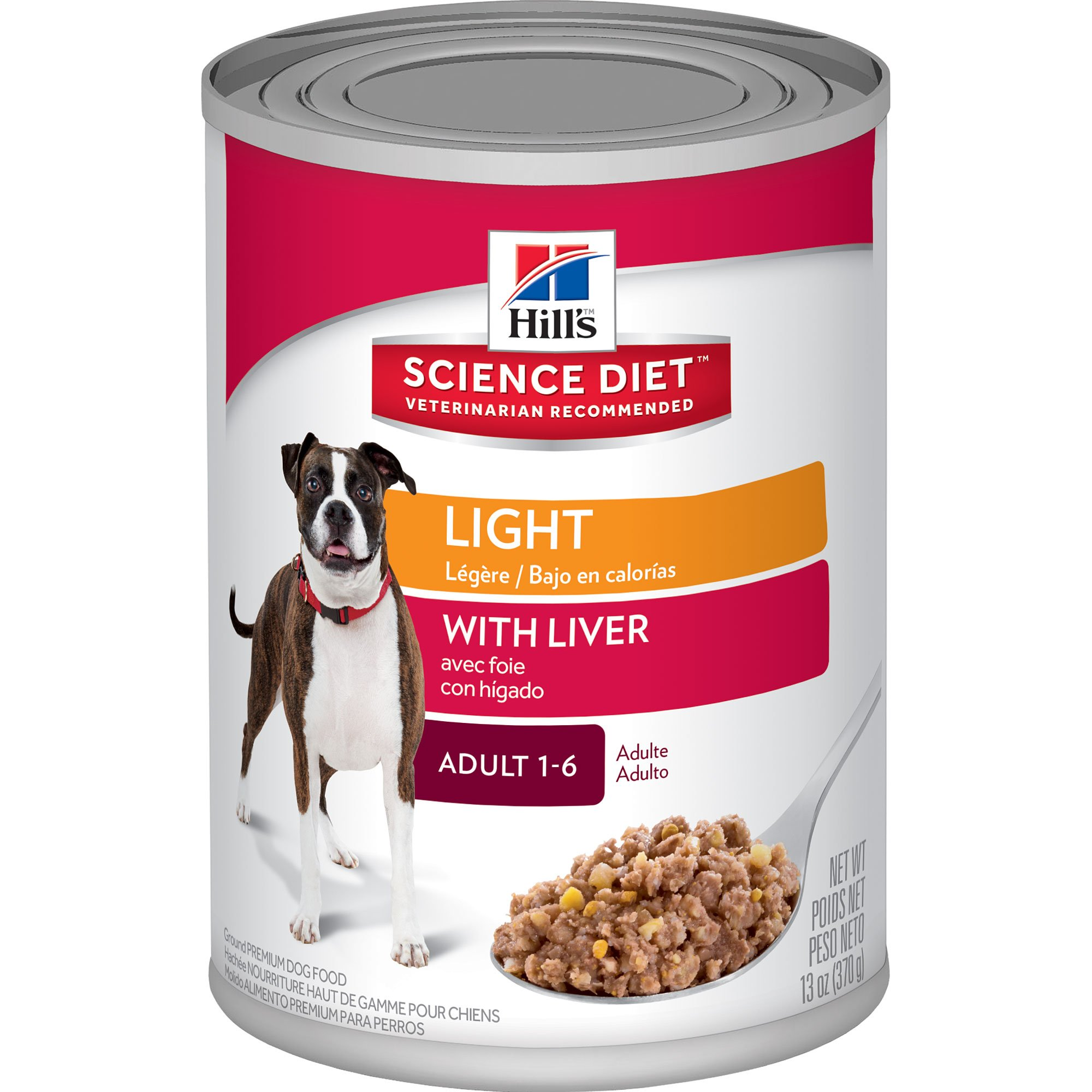 Hills Science Diet Adult Light Savory Liver Entree Canned Dog Food