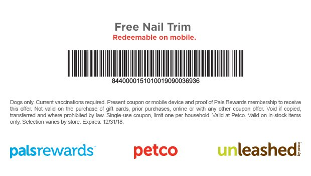 photo about Petco Printable Coupon referred to as Petco Printable Coupon: Free of charge Nail Slender for Canine SwagGrabber