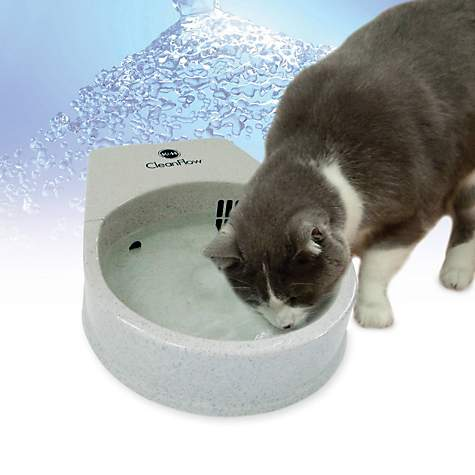 K&H Cat Clean Flow Filter Water Bowl for Cats