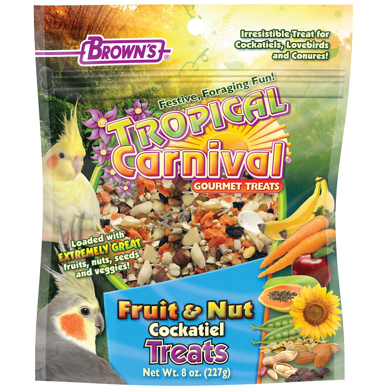 Browns Tropical Carnival Gourmet Cockatiel Treats 8 Oz.