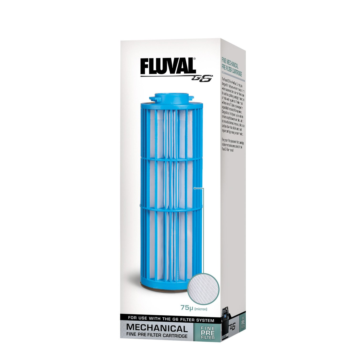 Fluval g6 fine pre filter cartridge petco for Petco fish tank filters