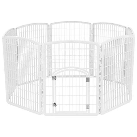 Iris White Eight Panel Pet Containment Pen With Door Petco