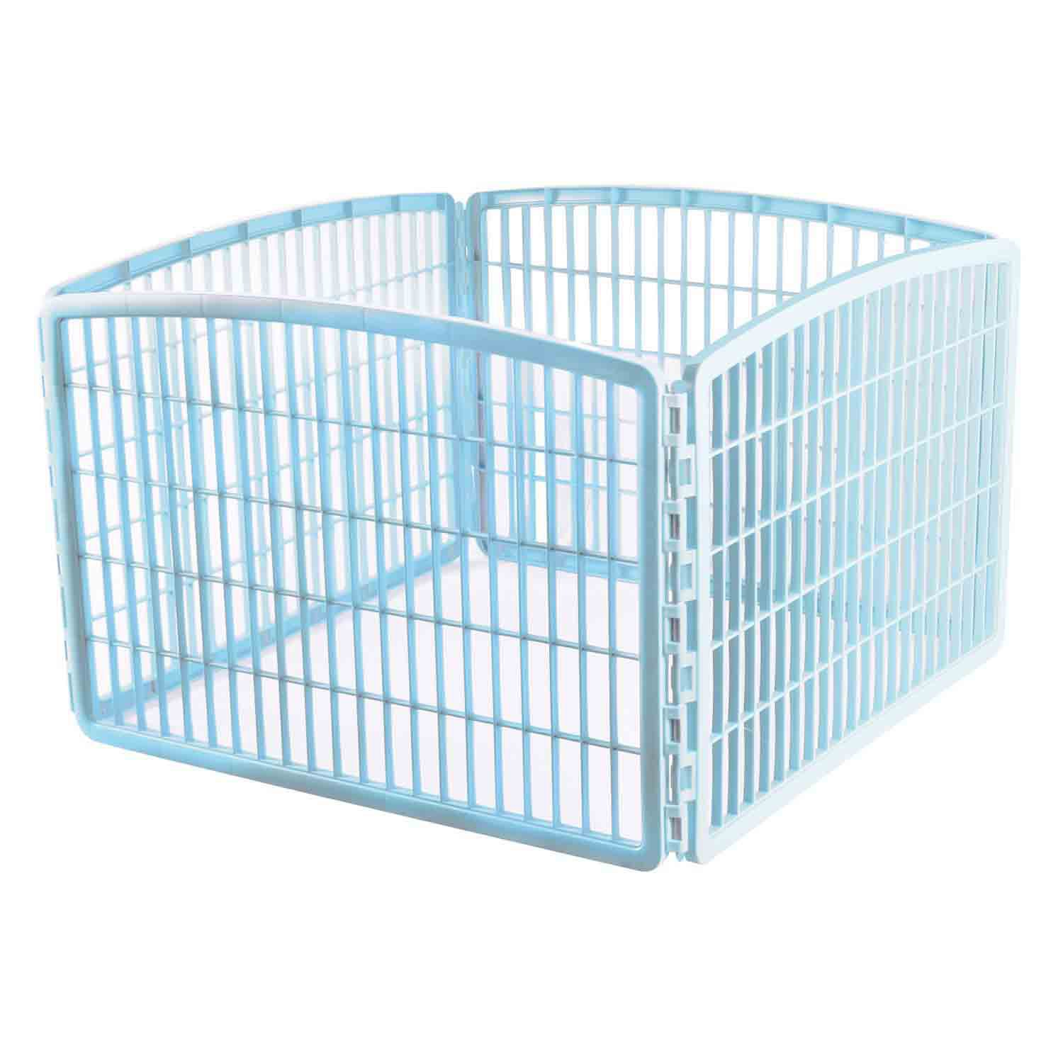 Iris Blue Four Panel Pet Containment and Exercise Pen without Door ...