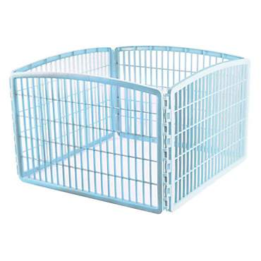Iris Blue Four Panel Pet Containment and Exercise Pen without Door