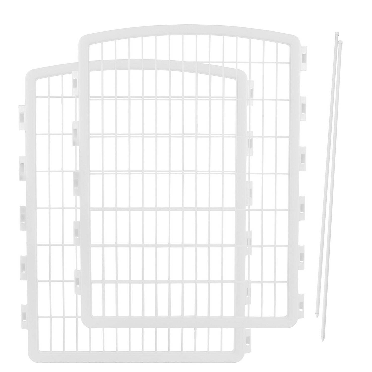 Iris White Two Panel Add On For Four Panel Containment And Exercise Pet Pen, 26.3 L X 34.3 H