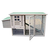 Precision Pet Hen House Chicken Coop in Taupe & Off-White